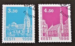NOËL 1996 - OBLTERES - YT 290/91 - MI 290/91 - Estland