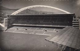 STADIO-STADE-STADIUM ESTADIO-CAMPO SPORTIVO SOCCER-FOOTBALL-BILBAO-ESPANA-SAN MAMES STADIUM-VIAGGIATA . IL 6-4-1957 - Fútbol