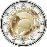 """GRECIA  /  GREEECE  2€ 2.020  2020  """"2.500 Años De La Batalla De Las TERMÓPILAS""""  Bimetálica  SC/UNC   T-DL-12.605 - Grecia"""