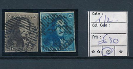 BELGIUM COB 1/2 THE FIRST STAMPS NICE USED - 1849 Epaulettes
