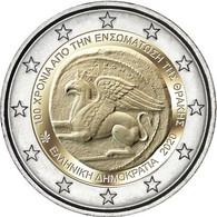 """GRECIA  /  GREECE  2€ 2.020  2020  """"100 Años De La Incorporación De Tracia A Grecia""""  Bimetálica  SC/UNC   T-DL-12.606 - Grecia"""