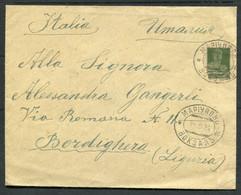 33369 Russia RAILWAY Mariupol Station (Ukraine) Cancel 1925 Cover To Italia Pmk - Briefe U. Dokumente