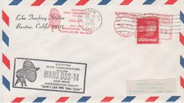 N°1235 N -lettre (cover) Mars DSS-14 -oblitération Mécanique- - USA