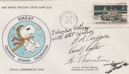 N°1225 N -lettre (cover) Smeat -nasa Manned Spacecraft Center Stamp Club - Signatures - - USA