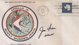 N°1224 N -lettre (cover) Apollo 15 -signature James Irwin- - USA