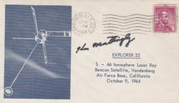 N°1223 N -lettre (cover) Explorer 22 -signature Mattingly- - USA