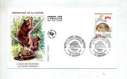 Lettre Fdc 1991 Gonfaron Tortue - 1990-1999