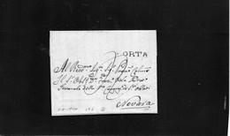 CG20 - Lettera Da Orta 3/8/1840 Per Novara - Annullo Lineare Nero Di Orta Con Segno Di Tassa - ...-1850 Préphilatélie