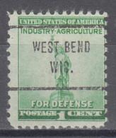 USA Precancel Vorausentwertung Preo, Locals Wisconsin, West Bend 713 - Voorafgestempeld