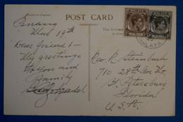 K26 MALAISIE BELLE CARTE 1959 PAR AVION POUR ST PETERSBOURG USA + AFFRANCHISSEMENT INTERESSANT - Straits Settlements