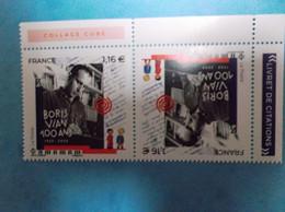 TIMBRE : No : P5406a  , BORIS VIAN , PAIRE TETE BECHE , Venant Du Feuillet , XX , En Bon état - Unused Stamps