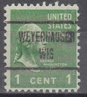 USA Precancel Vorausentwertung Preo, Locals Wisconsin, Weyershauser 723 - Voorafgestempeld