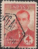 SPAIN 1945 Air. Civil War Air Aces - 4p - Carlos De Haya Gonzalez FU - Oblitérés
