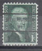 USA Precancel Vorausentwertung Preo, Locals Wisconsin, Weyershauser 846 - Voorafgestempeld