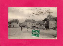 49 Maine Et Loire, SEGRE, Rue De Bretagne, Chapelle St-Joseph, Animée, 1909, (André Delétang) - Segre