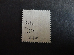 TIMBRE DE FRANCE N° 670 PERFORE  VF 21 - Perfins