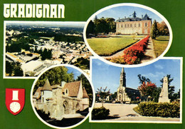 E 3315 - Gradignan (33) Vue Generale Aerienne    L'Hotel De Ville  Ancien Prieuré De Gayac L'Eglise Et Le Monument - Gradignan