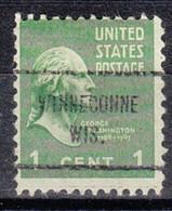 USA Precancel Vorausentwertung Preo, Locals Wisconsin, Winneconne 713 - Voorafgestempeld