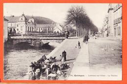 VaX005 QUIMPER 29-Finistère LAVEUSES Sur L' ODET Le Théatre Lavandières Linge 1910s Collection ANGLARET 584 - Quimper