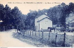 ILE D'OLERON - SAINT TROJAN LES BAINS - La Gare Et L'Avenue - Très Bon état - Ile D'Oléron