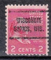 USA Precancel Vorausentwertung Preo, Locals Wisconsin, Wisconsin Rapids 714 - Voorafgestempeld