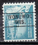 USA Precancel Vorausentwertung Preo, Locals Wisconsin, Wonnewoc 745 - Voorafgestempeld