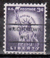 USA Precancel Vorausentwertung Preo, Locals Wisconsin, Wrightstown 807 - Voorafgestempeld