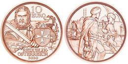 """AUSTRIA  10€ 2.020  2020  """"LOS CABALLEROS DE LA ORDEN DE SAN JUAN""""  Cobre  SC/UNC   T-DL-12.611 - Austria"""