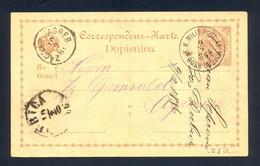 BOSNIA AND HERZEGOVINA - Stationery Cancelled With First Type K.K. Milit.Post BOS. DUBICA. Statinery Sent From Bosanska - Bosnië En Herzegovina