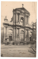 CPA 75 - PARIS - 239. Eglise Saint-Roch - C.L.C. - Dos Simple (petite Animation, Attelage) - Iglesias