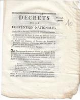 DécretS De La Convention Nationale 1793  Dont Abolition De La Loi Martiale  4p S Dalbarade - Gesetze & Erlasse