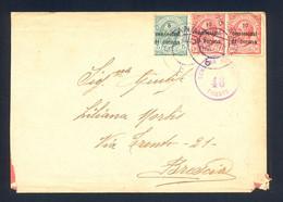 ITALY - Cover Franked With Provisional Stamps For Dalmatia, Sent To Brescia 1919. Censorship Cancel 'CENSORA POS... 46 T - Dalmatia