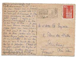 Suisse Carte Lettre Lugano 1964 Flamme Prévention Incendie Feux Forêt écologie Ecology Cover Mechanic Cancel - Briefe U. Dokumente