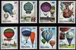 1202/1209**- 1er Vol En Ballon / 1ste Ballon Vlucht / 1. Ballonflug / 1st Balloon Flight - RWANDA - 1980-89: Neufs