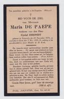 MARIA DE PAEPE  NAZARETH  1878  GENT 1935 - Overlijden