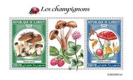DJIBOUTI 2020 - Mushrooms, S/S I. Official Issue [DJB200601a1] - Champignons