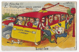 Lourdes, Humour Bus Bondé - Humor