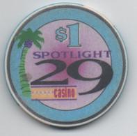 Spotlight 29 Casino ( Trump 29 Casino 2002-2006 ) $1 Coachella CA - Casino