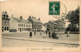 Loos * La Place De L'église * Villageois - Loos Les Lille