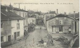 FONTENOY-LE-CHATEAU : Place Et Rue Du Potet - Série J.Simon N°103 - TRES RARE VARIANTE - Cachet Poste 1915 - Other Municipalities