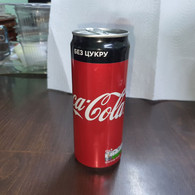 Ukrania-zero Coca Cola-(330mil)-With A Black Sticker On The Back-used - Cannettes