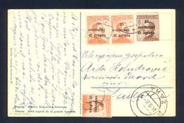 ITALY - Postcard Franked With Provisional Stamps For Dalmatia, Sent Loco Zara (Zadar) 14.IV. 1921. - Dalmatia