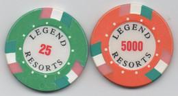 Legend Resorts Casino 25 & 5000 (Localisation Et Unité Monétaire à Définir) - Casino