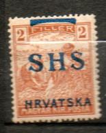YOUGOSLAVIE 2fi Brun 1918-19 N°8 - Unused Stamps