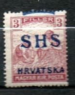 YOUGOSLAVIE 3fi Brun Lilas 1918-19 N°9 - Ungebraucht