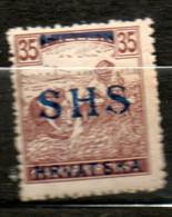 YOUGOSLAVIE 35fi Brun 1918-19 N°17 - Unused Stamps