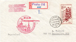 Praha Moskva 1975 - CSA -  30 Jahre 1er Vol Flight Erstflug - Prague Moscou Moskau - URSS CSSR - Cartas