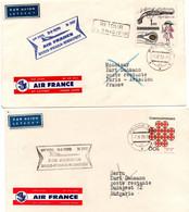 Paris Praha Budapest 1970 - Air France Boeing 727 - 1er Vol Flight Erstflug - Prague - A/R - Cartas