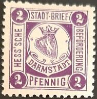 Germany Stadtpost/Privatpost Darmstadt 2 Pfg Michel B1 Unused - Sello Particular