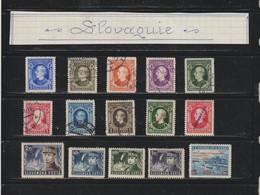 SLOVAQUIE --  Année : 1939  --  Lot De 15 Timbres Divers  -  Voir Les 2 Scannes - Sin Clasificación